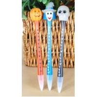 China Custom Promotional Halloween PS &  ABS Ballpoint Pen With Flashing Novelty Led Lights on sale
