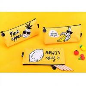 Cheap Cartoon Kids Student Pencil Pouches Polyester , Zipper Pencil Case BagYellow wholesale