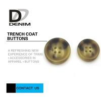Cheap Big Size Bright Color Bulk Trench Plastic Horn Coat Buttons High Wear Resistance With Sewing Hole wholesale
