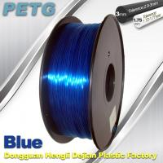 Cheap 3D Printing Rapid Prototyping High Transparent Blue PETG Filament  1kg / Spool wholesale