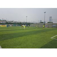 Cheap Healthy Flat Artificial Football Turf Lively Olive Color Solid Backing 50mm Height wholesale