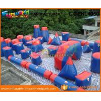 Cheap 0.6MM PVC Tarpaulin Inflatable Paintball Arena For Bunker Red And Blue Paintball Bunker Field wholesale