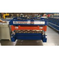 Cheap 4 Kw Hydraulic Cutter Glazed Tile Roll Forming Machine 1220mm Coil Width wholesale