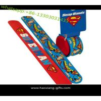 Cheap Most popular advertising promotion custom logo reflective slap wristband wholesale