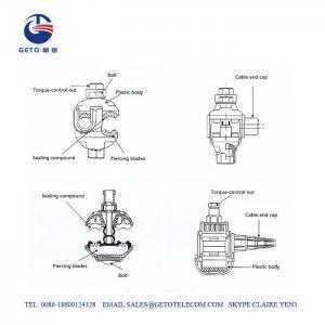 Cheap JJC 1KV 1.5sqmm Insulation Piercing Connector , Wire Piercing Connector wholesale