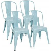 Cheap Kitchen Stackable Restaurant Chairs Bistro Cafe Side OEM Available Metal Leg wholesale