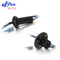 China Ethernet slip ring 1 channel 100BaseT mini OD 22mm with 6 circuits 2A+2 circuits 5A on sale