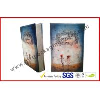 Personalized Paper Gift Packaging Box, Uv Coating / Foil Stamping Book Shape Rigid Gift Boxes