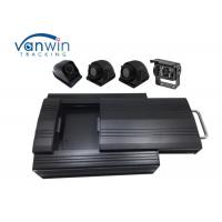 Cheap 4G 4 Channel GPS Video vehicle dvr system with 2 Tera HDD Storage 4 Cameras RS232 MDVR wholesale