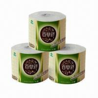 Quality Toilet tissue paper with non-wood fiber, natural material, eco-friendly, safe, soft, SGS-/FDA-marked for sale