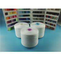 Cheap OEKO-TEX Plastic Cone Raw White Spun Polyester Yarn 100% Polyester Sewing Thread 40/2 50/3 wholesale