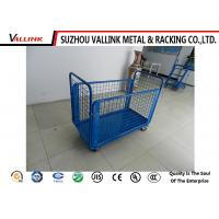 Cheap 4 Closed Steel Mesh Sides Hand Truck Cart For Workplace Safety Loading wholesale