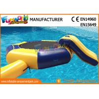 Cheap Great Fun Inflatable Floating Water Toys Jumping Pad , 15 Foot Water Trampoline wholesale