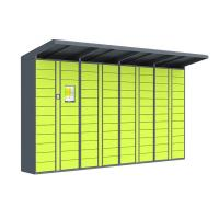 Cheap 100 - 240V Postage Lockers , Chinese / English Delivered Parcel Locker wholesale