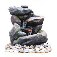 Buy cheap Outdoor Rock Water Fountains , Stone Waterfall Fountain With Cement Material from wholesalers