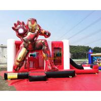 Cheap OEM Iron Man Ultimate Combo Inflatable Bounce House 5Lx4Wx3.5H Meter wholesale