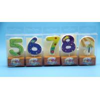 Cheap Lovely 0-9 Number Birthday Candles Set With Glitter Decoration Smokeless wholesale