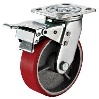 Buy cheap Small Red Caster Wheels / Heavy Duty Locking Swivel Casters With Plate Fitting from wholesalers