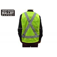Cheap 100% Polyester Fluorescent Yellow Security Vest Clothes Reflective Vest Safety Equipment wholesale