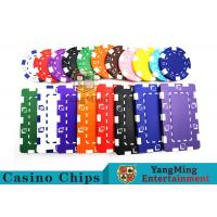Cheap 11.5g - 32g Clay Poker Chips With Sticker With Unique Dice Fancy Mold Design wholesale