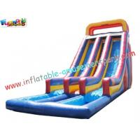Cheap Custom SUMMER Amusement Park Outdoor Adult Water Inflatable Slide 14L x 5.5W x 7H Meter wholesale