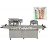 Cheap High Efficiency Cosmetic Cream Filling Machine With PLC Control wholesale
