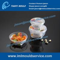 Cheap 280ml -380ml thin wall sauce containers mould, IML plastic cups with lids mould making wholesale