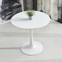 China Small Round Wood Cafe Table Solid Wood Material White Or Black Color on sale