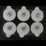 Cheap 32MM Circular shape conductie self adhesive electrode pad,3.5MM snap tens unit pad wholesale