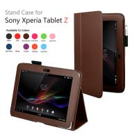 Cheap Standable PU Sony Tablet Leather Case 10.1Inch Lichi Texture Full Protection wholesale