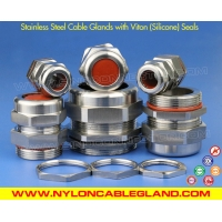 NPT Type IP68 Waterproof Metallic Stainless Steel Cable Glands with Viton (Silicone) Seals