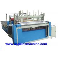 Cheap High Speed Toilet Tissue Paper Making Machine , Auto Trimming / Gluing And Sealing wholesale