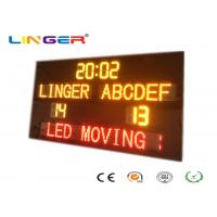 Buy cheap New Design Standard Electronic Soccer Scoreboard with Led Team Name and Moving from wholesalers