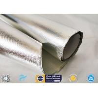 Cheap 0.85mm Thick Silver Coated Fabric 95% Heat Reflection Aluminium Foil Laminated wholesale