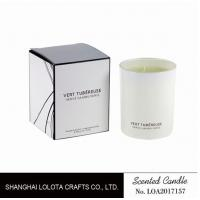 China Living Room Natural Soy Candles , Decorative Scented Candles In The Light White Color Bottle on sale