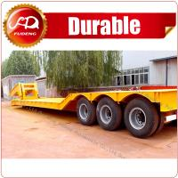 Cheap China ShanDong detachable gooseneck lowbed ,hydraulic duty tri-axle lowbed semi trailer wholesale