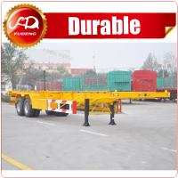 Cheap 2 axle or 3 axle 20ft 40ft Skeleton Semi Trailer container chassis trailer for sale wholesale