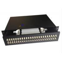 Buy cheap Steel Sc Fiber Optic Joint Box , 48 Port Fiber Patch Panel Drawer Type from wholesalers