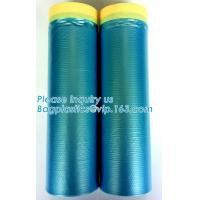 Cheap PE Taped Drop Masking Film For Car Painting Protective Plastic Film wholesale