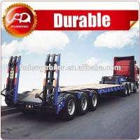 Cheap Heavy duty 3 axles low flatbed trailers lowbed semi trailer 60 ton to 100tons low bed trailers for sale wholesale