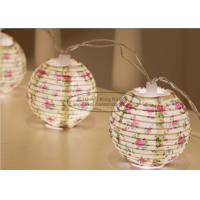 Cheap Flower Battery Operated Paper Lantern String Lights 7.5 Cm Energy Saving Led Party Decor wholesale