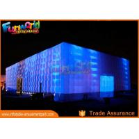 Cheap PVC Coated Nylon Inflatable Cube Tent With Led Lighting / Blow Up Event Tent wholesale