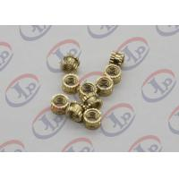 Cheap OEM ODM CNC Machining Parts , Swiss Lathe Turning Brass Knurled Nuts with M5 Thread wholesale