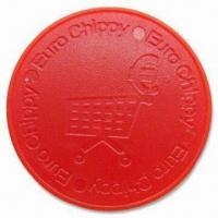 Cheap Plastic Trolley Coins, Customized Logos are Welcome, Made of ABS Plastic wholesale