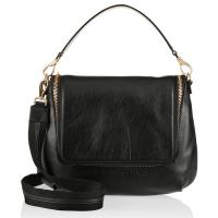 Cheap Single Handle With Long Strap Leather Shoulder Handbags , Zipper Pocket At The Back Of Bag wholesale