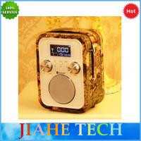 Cheap NEW hand free call portable alarm clock radio with bluetooth speaker and  TF/AUX/USB for MP3 play wholesale