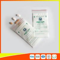 Cheap LDPE Clear Medical Ziplock Pill Bags For Hospital / Drugstore Disposable wholesale