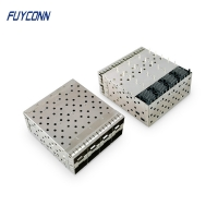 Cheap 160pin Press Pin Type 2*4 8 Ports SFP+ Connector wholesale