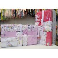 Cheap Luxury Pink Organic Cotton Layette Christening Gift Sets For New Born Baby Girls wholesale