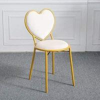 Cheap Heart Shaped Lounge Nordic Dining Chairs Gold Pink Dressing Table Simple Fluff Chair Home wholesale